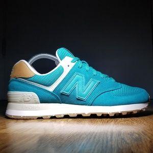 New Balance Womens NB 574 Teal Running Shoes